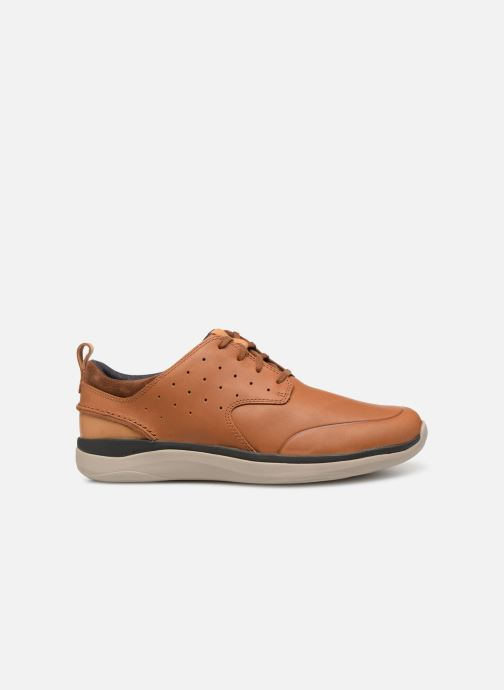 Sneakers Clarks Garratt Lace Bruin achterkant
