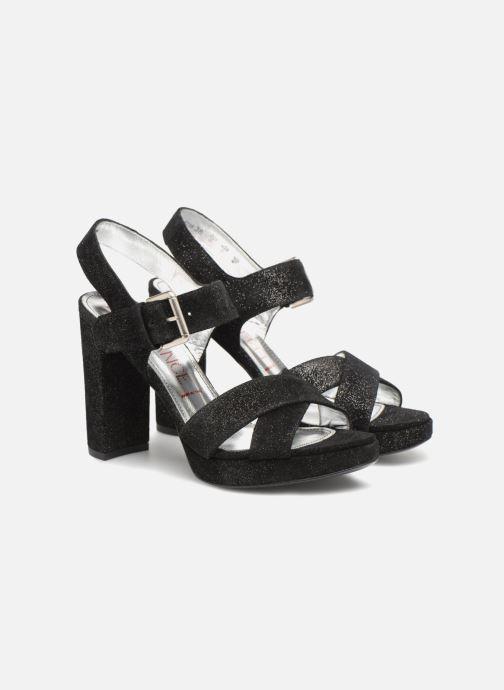 Sandales et nu-pieds Free Lance Elisa 7 Cross Sandal Noir vue 3/4