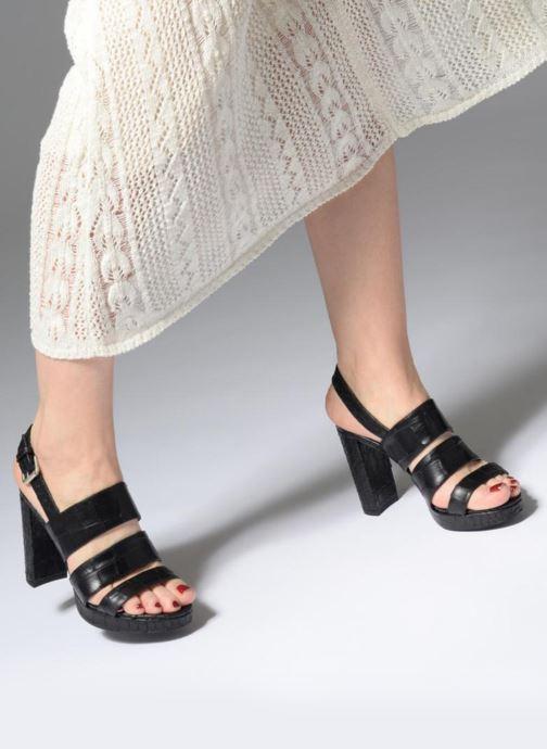 Sandales et nu-pieds Free Lance Elisa 7 Sandal Strap Noir vue bas / vue portée sac