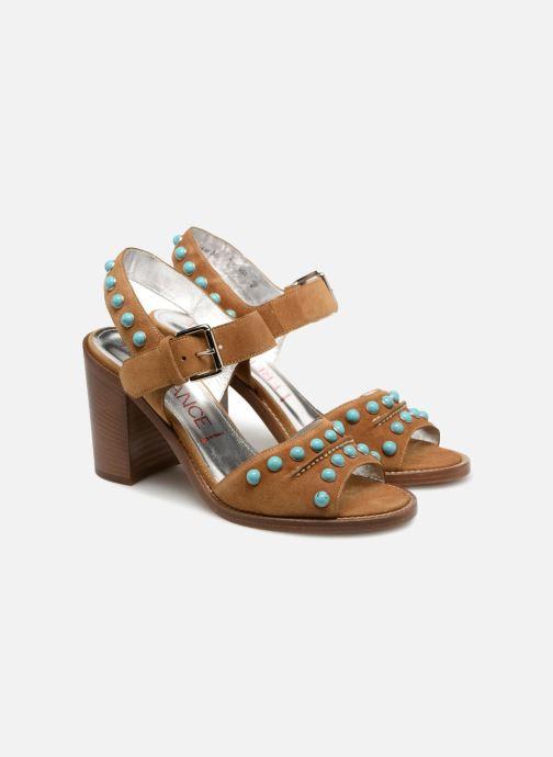 Sandales et nu-pieds Free Lance Hema 7 sandal Rivets Marron vue 3/4