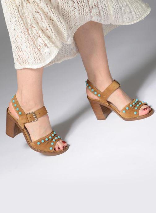 Sandales et nu-pieds Free Lance Hema 7 sandal Rivets Marron vue bas / vue portée sac