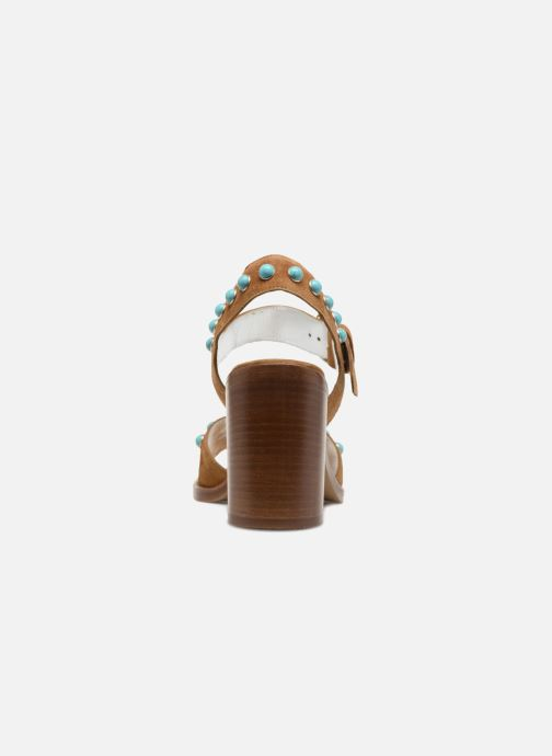 Sandales et nu-pieds Free Lance Hema 7 sandal Rivets Marron vue droite