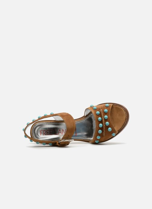 Sandales et nu-pieds Free Lance Hema 7 sandal Rivets Marron vue gauche