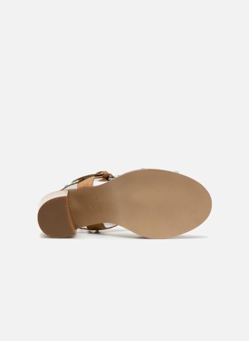 Sandales et nu-pieds Free Lance Hema 7 sandal Rivets Marron vue haut