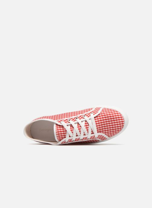 Baskets Georgia Rose Sachek Rouge vue gauche