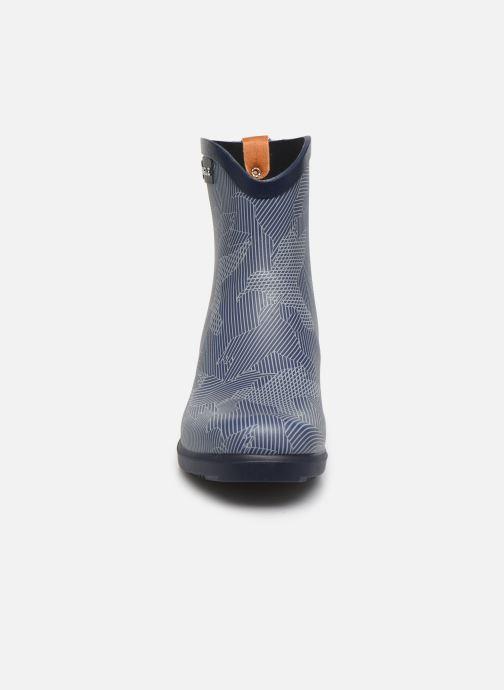Bottines et boots Aigle MIS JUL BOT PRT Bleu vue portées chaussures