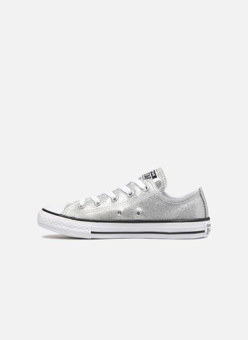 605db30f26f Trainers Converse Chuck Taylor All Star Kids Sparkle Ox Silver front view