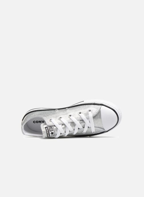 ca5ab70baaf Trainers Converse Chuck Taylor All Star Kids Sparkle Ox Silver view from  the left