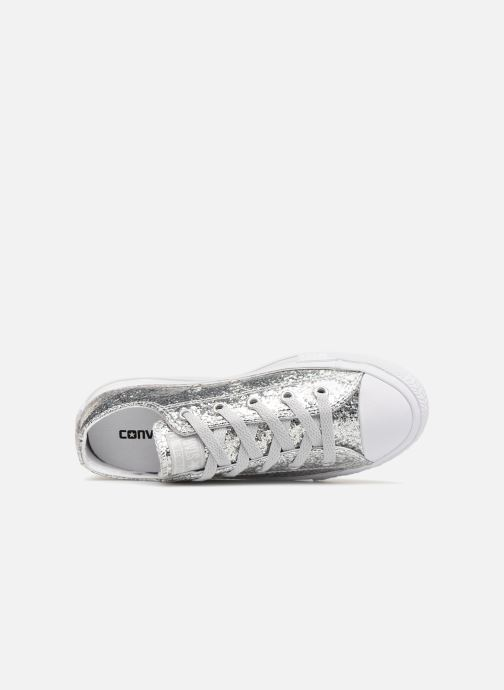 0440f7b77a9 Trainers Converse Chuck Taylor All Star Glitter Ox Silver view from the left