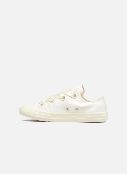a0d35c2295f238 Trainers Converse Chuck Taylor All Star Big Eyelet Satin Mono Slip White  front view
