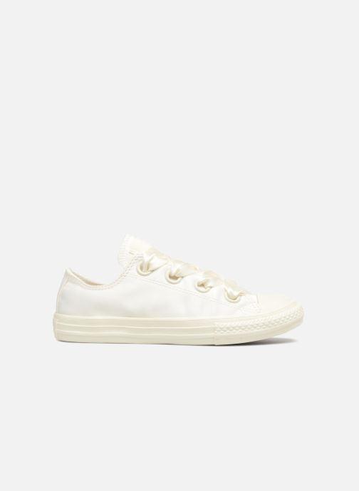 Sneakers Converse Chuck Taylor All Star Big Eyelet Satin Mono Slip Wit achterkant