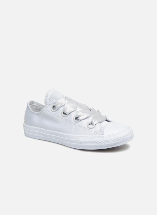 Trainers Converse Chuck Taylor All Star Big Eyelet Satin Mono Slip White detailed view/ Pair view