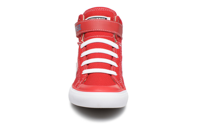 Sneaker Converse Pro Blaze Strap Summer Sport Textile Ox rot schuhe getragen