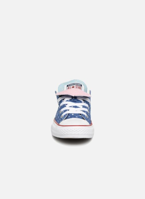 b60b5e39ce0f6d Trainers Converse Chuck Taylor All Star Double Tongue Star Perf Ox Blue  model view