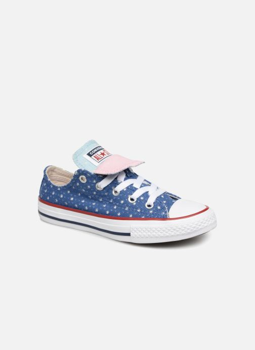 e99988aead9348 Trainers Converse Chuck Taylor All Star Double Tongue Star Perf Ox Blue  detailed view  Pair
