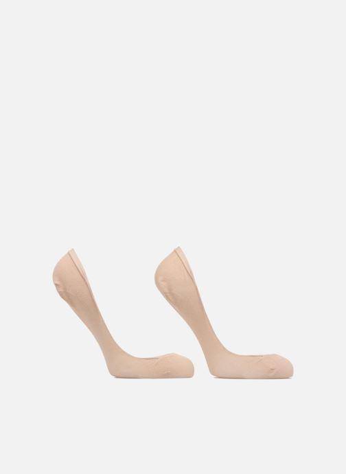 Chaussettes et collants Dim Protèges-pieds échancrés SPECIAL BALLERINES X2 Beige vue portées chaussures