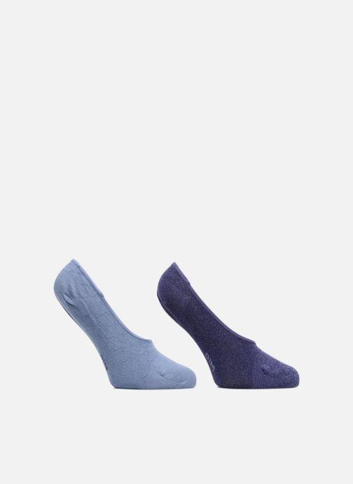 Sokken en panty's Dim Protèges-pieds COTON STYLE ECAILLES BRILLANT X2 Blauw detail
