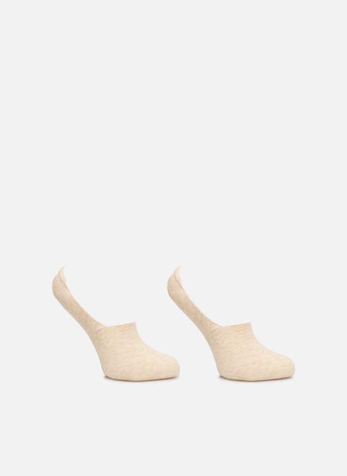 Chaussettes et collants Dim Protège pieds coton x2 Beige vue détail/paire