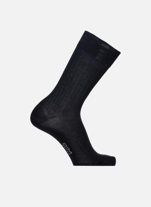 Sokken en panty's Dim Chaussettes pur coton à côtes x1 Blauw detail