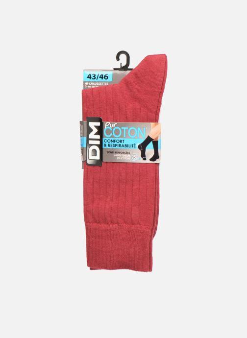 Calze e collant Dim Chaussettes pur coton à côtes x1 Nero modello indossato