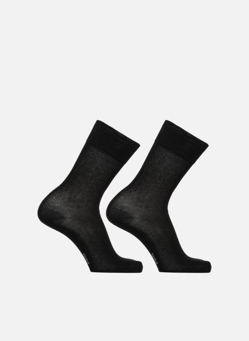 Sokken en panty's Dim Mi-chaussette Xtemp classique x2 Zwart detail