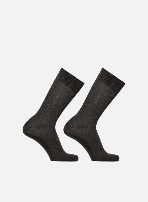 Sokken en panty's Dim Mi-chaussette Xtemp classique x2 Grijs detail