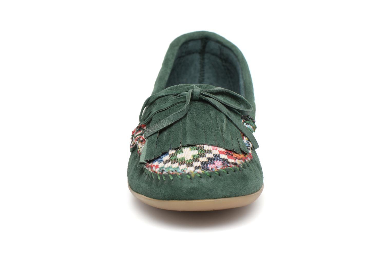 Mocassins Ippon Vintage MOC-WAX Vert vue portées chaussures