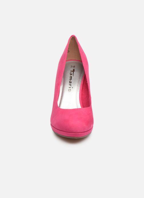 Escarpins Tamaris 22407 Rose vue portées chaussures