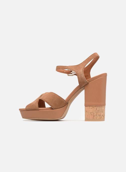 Sandales et nu-pieds Gioseppo ANISTON Marron vue face