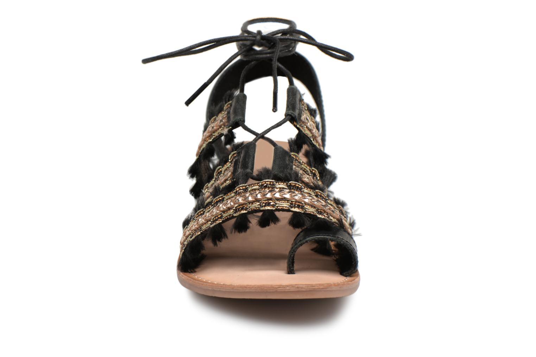 Sandales et nu-pieds Gioseppo TIXAE Noir vue portées chaussures