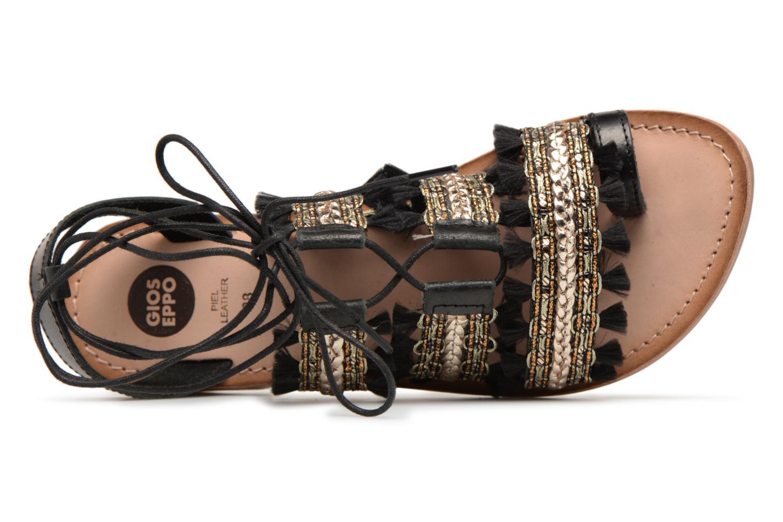 Sandales et nu-pieds Gioseppo TIXAE Noir vue gauche