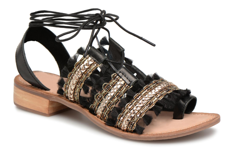 Sandales et nu-pieds Gioseppo TIXAE Noir vue détail/paire