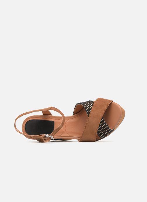 Sandales et nu-pieds Gioseppo RANUKA Marron vue gauche