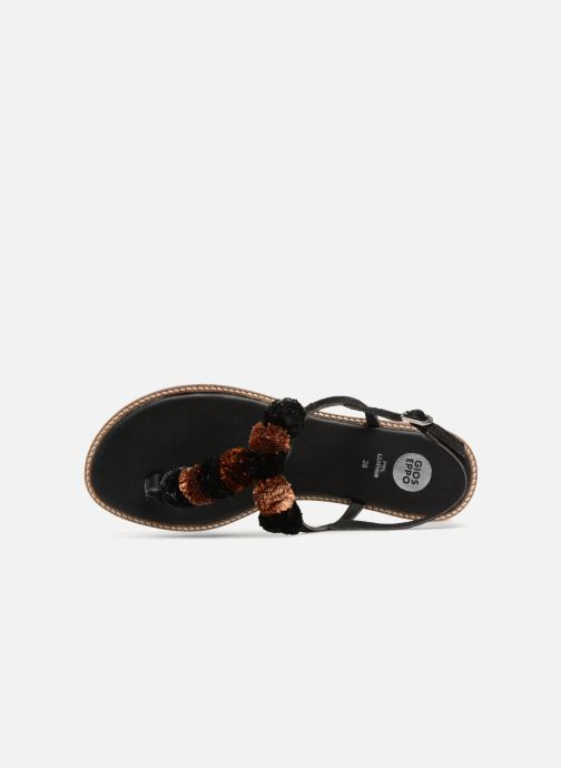 Sandals Gioseppo SARIDA Black view from the left