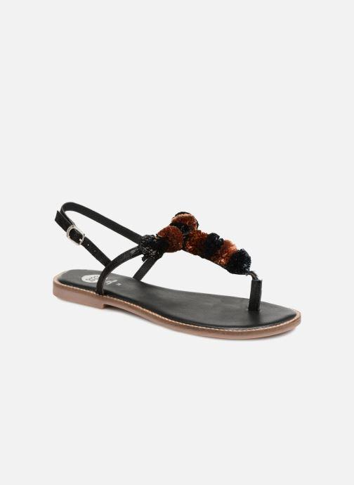 Sandals Gioseppo SARIDA Black detailed view/ Pair view