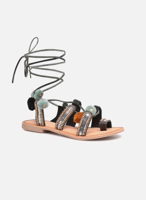 Sandals Gioseppo NAYELI Black detailed view/ Pair view