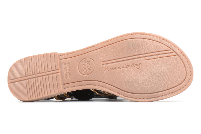 Sandales et nu-pieds Gioseppo NAYELI Noir vue haut