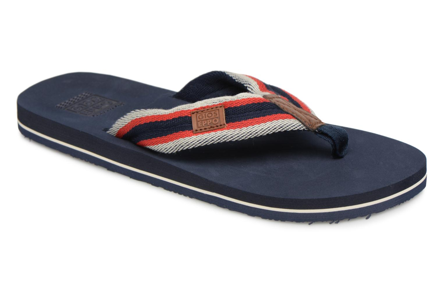 Flip flops Gioseppo MARANGO Blue detailed view/ Pair view