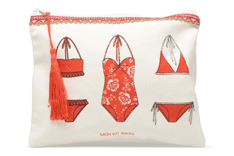 Kleine lederwaren Petite mendigote Kit de survie Bikini Plage Wit detail