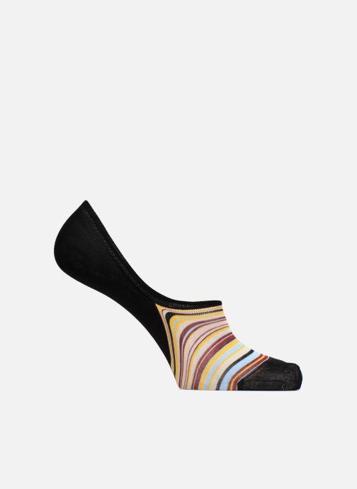 Chaussettes et collants PS Paul Smith No Show Multi Stripes Noir vue détail/paire