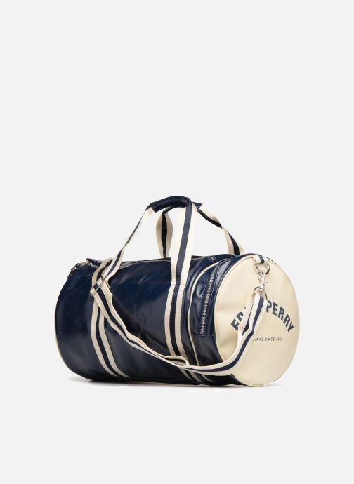 Sporttaschen Fred Perry Classic  Barrel Bag blau ansicht von rechts
