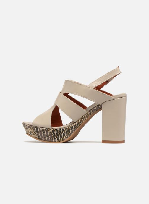 Sandales et nu-pieds Elizabeth Stuart Byr 721 Beige vue face