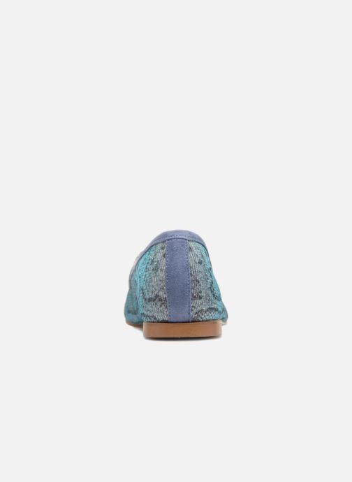 Mocasines Elizabeth Stuart Namo 713 Azul vista lateral derecha