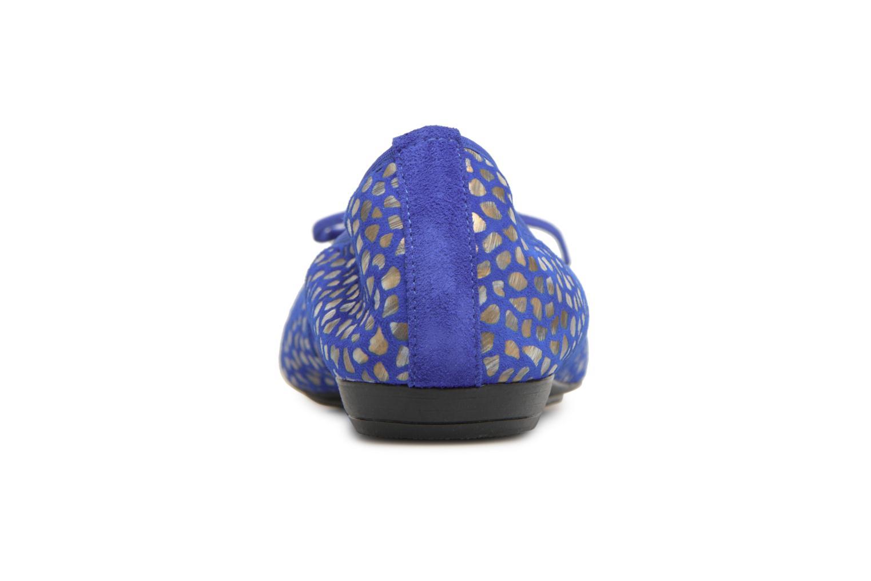 Ballerines Elizabeth Stuart York 310 Bleu vue droite