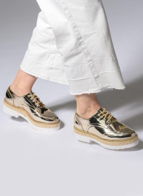 Chaussures à lacets MTNG 51785 Or et bronze vue bas / vue portée sac