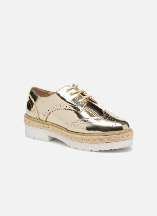 Snøresko MTNG 51785 Guld og bronze detaljeret billede af skoene