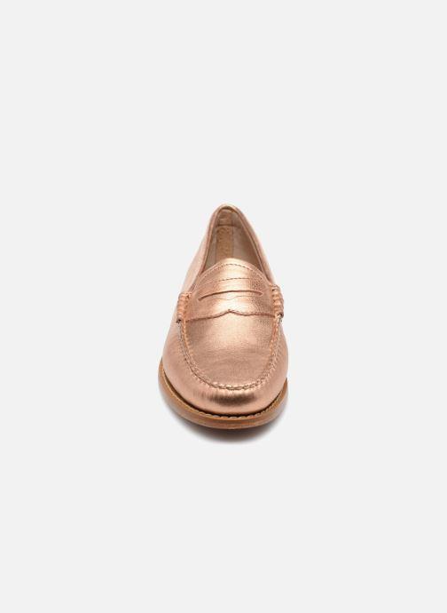 Mocassins G.H. Bass WEEJUN Penny metal Rose vue portées chaussures