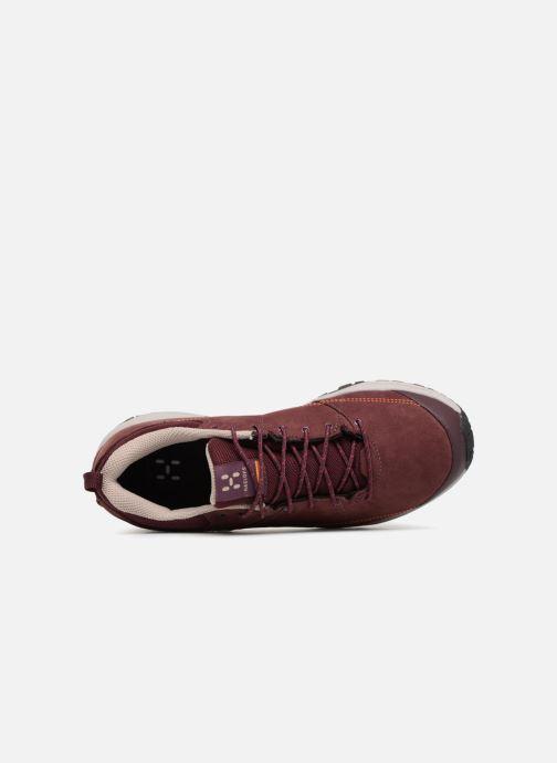 Zapatillas de deporte HAGLOFS Mistral GT W Vino vista lateral izquierda