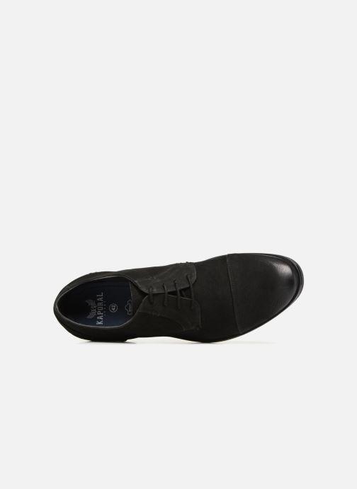 Zapatos con cordones Kaporal Lome Negro vista lateral izquierda