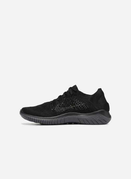 Sportschuhe Nike Nike Free Rn Flyknit 2018 schwarz ansicht von vorne
